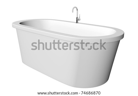 Bathtub isolated stock images royalty free images for Deep steel bath