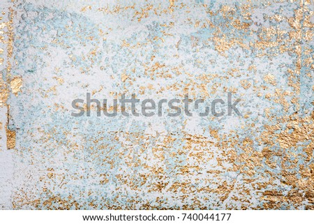 White Golden Messy Wall Stucco Texture Stock Photo Royalty Free