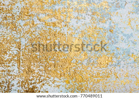 White Golden Messy Wall Stucco Texture Stock Photo 770489011 ...