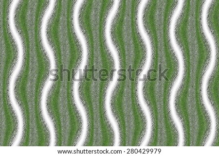 White and green lines - stock photo