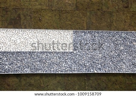 White and grey  decoration stones