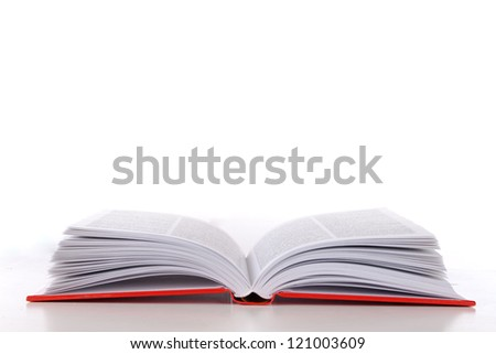 white and red book