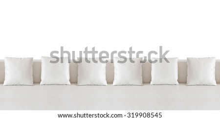 White and sofa on white background. - stock photo