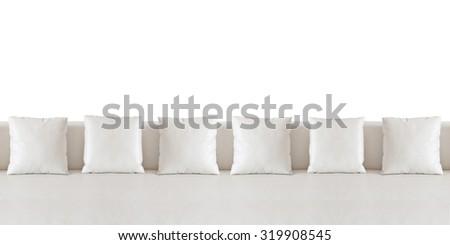 White and sofa on white background. - stock photo