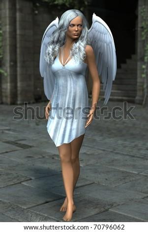 white angel - stock photo