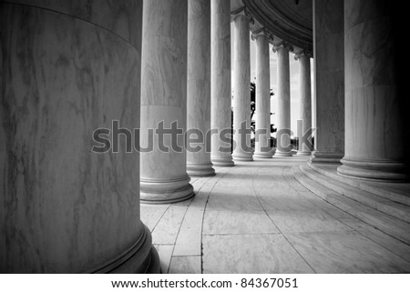 White Architectural Columns - stock photo
