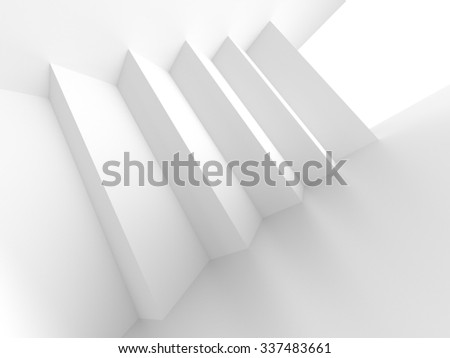 White Architecture Construction. 3d Abstract Background - stock photo
