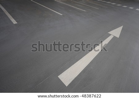 White arrow signt pointing up - stock photo