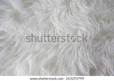 white artificial fur texture for background - stock photo