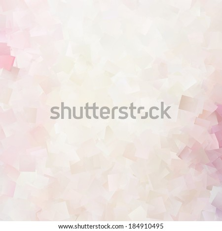 white background pink cubes decorative elements - stock photo