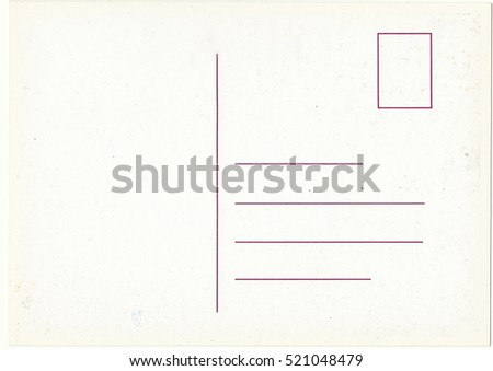White background, postcards