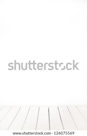 White background texture.Empty a white Interior.white room.White background.White wall.Wooden white floor, painted in white.White space. - stock photo