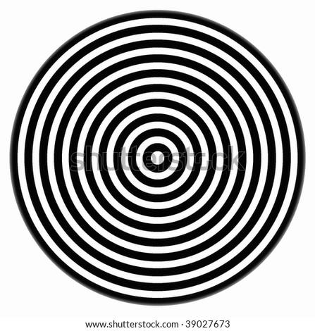 White background with black circles - stock photo