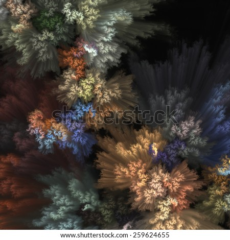 White background with decorative flowers  - stock photo