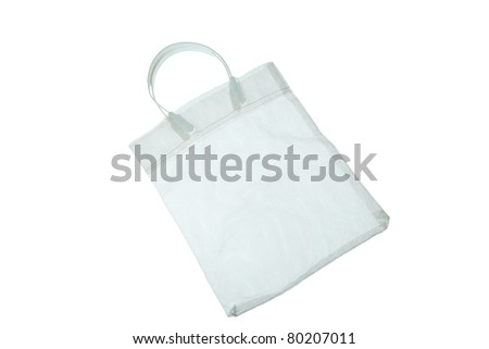 White bag isolated on white background