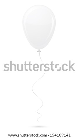 white balloon illustration isolated on background