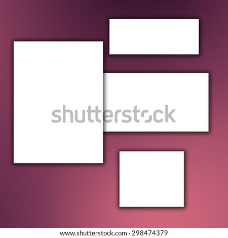 white banner background - stock photo