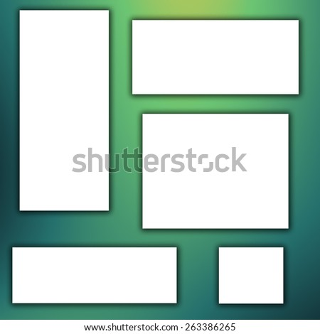 white banner on green background - stock photo