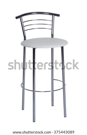 White bar stool
