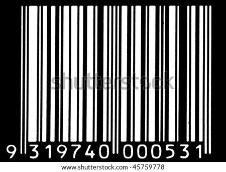 white barcode - stock photo