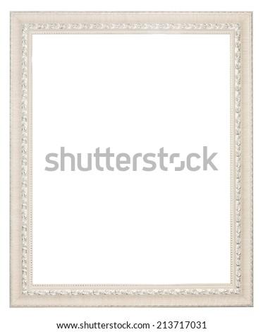 White Baroque Frame Vertical White Frame Stock Photo (Royalty Free ...