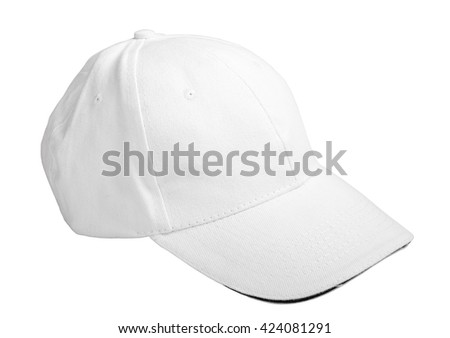 white baseball cap. isolated