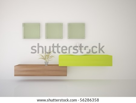 white bathroom concept - stock photo