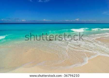 White beach - stock photo