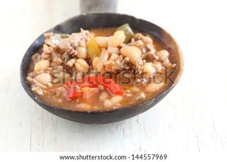 white bean soup - stock photo