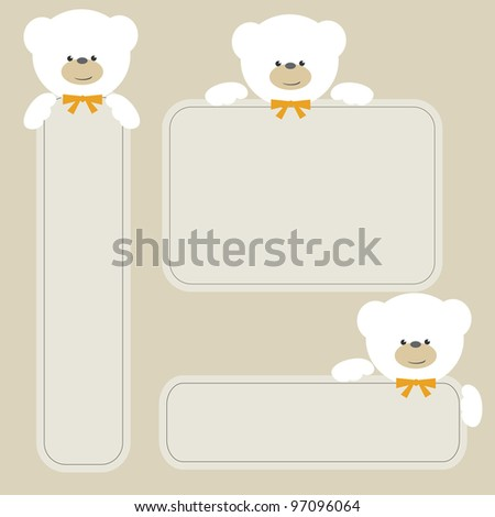 White bear with banner