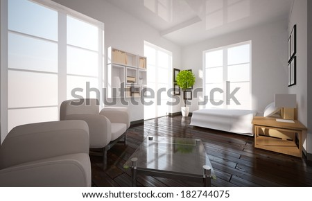 white bedroom with white furniture