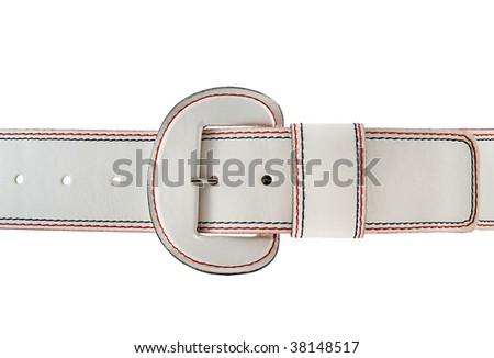 White belt - stock photo