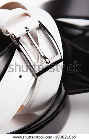 white belt close up - stock photo