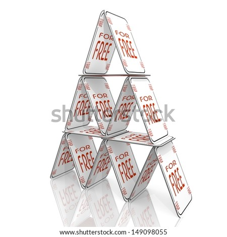 White  best price special offer 3d graphic with isolated free icon  on a card house - stock photo
