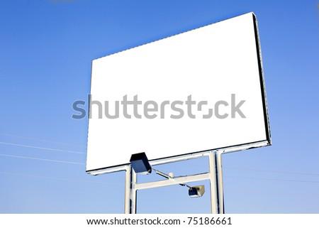 white billboard - stock photo