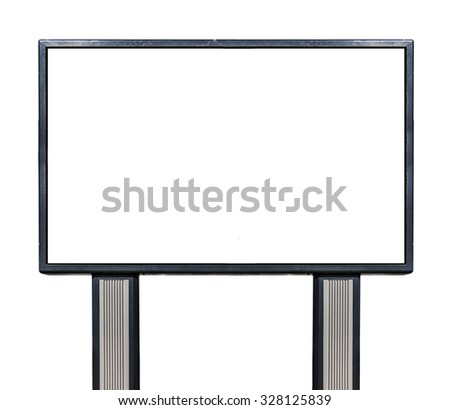 White Billboard isolated on white