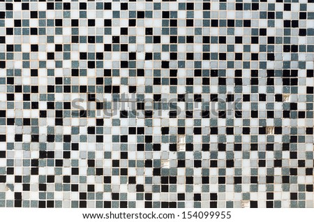 White, black and grey mosaic tiles