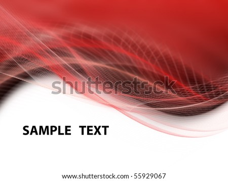 White, black and red modern futuristic background with abstract waves - stock photo