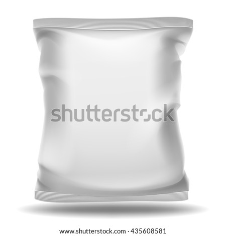 White blank bag package - stock photo