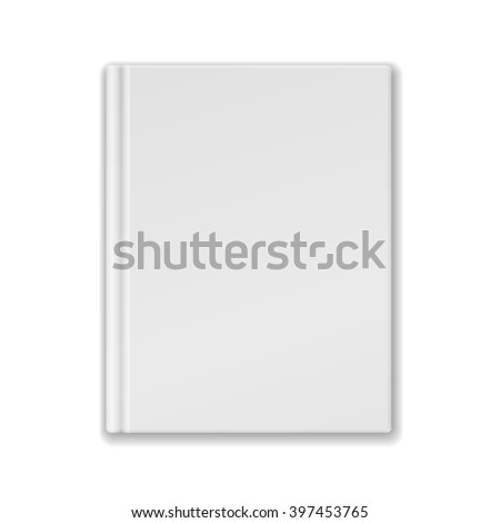 White Blank Book Or Notebook Template - stock photo