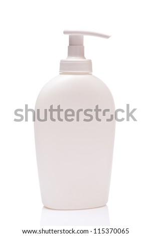 white blank bottle spray, isolated on white background - stock photo