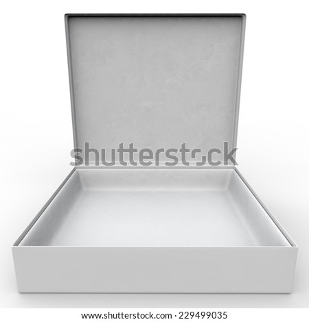 White blank box for jewelry and other goods - stock photo