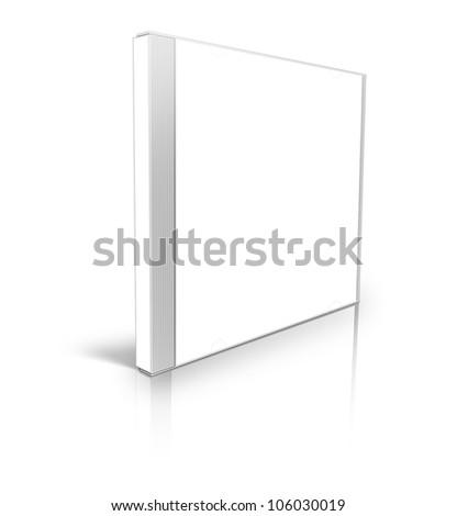 White blank cd case - stock photo
