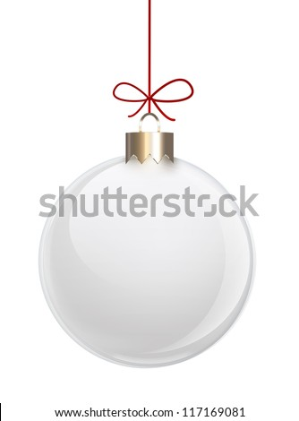 white blank Christmas ball - stock photo