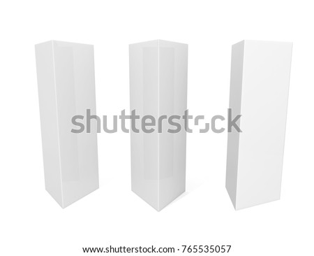 White Blank Empty Paper Tri-fold Table Tent card Mock-up Template. 3d  sc 1 st  Shutterstock & White Blank Empty Paper Trifold Table Stock Illustration 765535057 ...