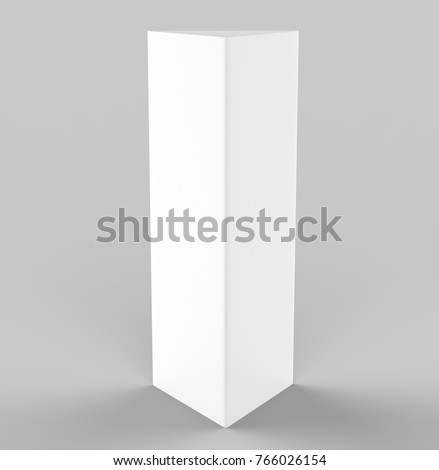 White Blank Empty Paper Trifold Table Stock Illustration - Tri fold table tent template