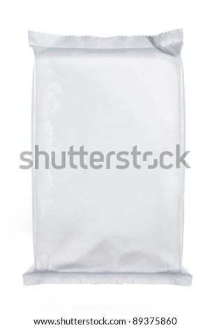 white blank foil packaging. for another blank packaging visit my gallery