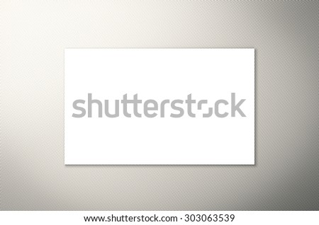 white blank name card illustration
