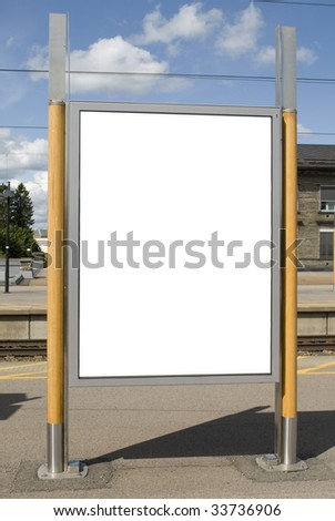 White Blank Outdoor Billboard, just add your text - stock photo