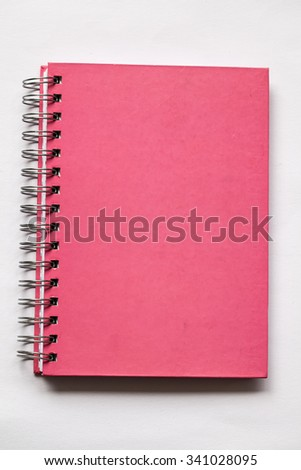 White blank pages sketch book on white background